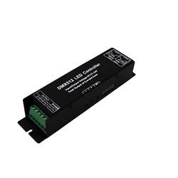 Dmx kontroler led z wyświetlacz cyfrowy rury Dmx512 dekoder sterownik ściemniacz Dc 12 24V 3X4A dla listwy rgb led światła (3 kanał)