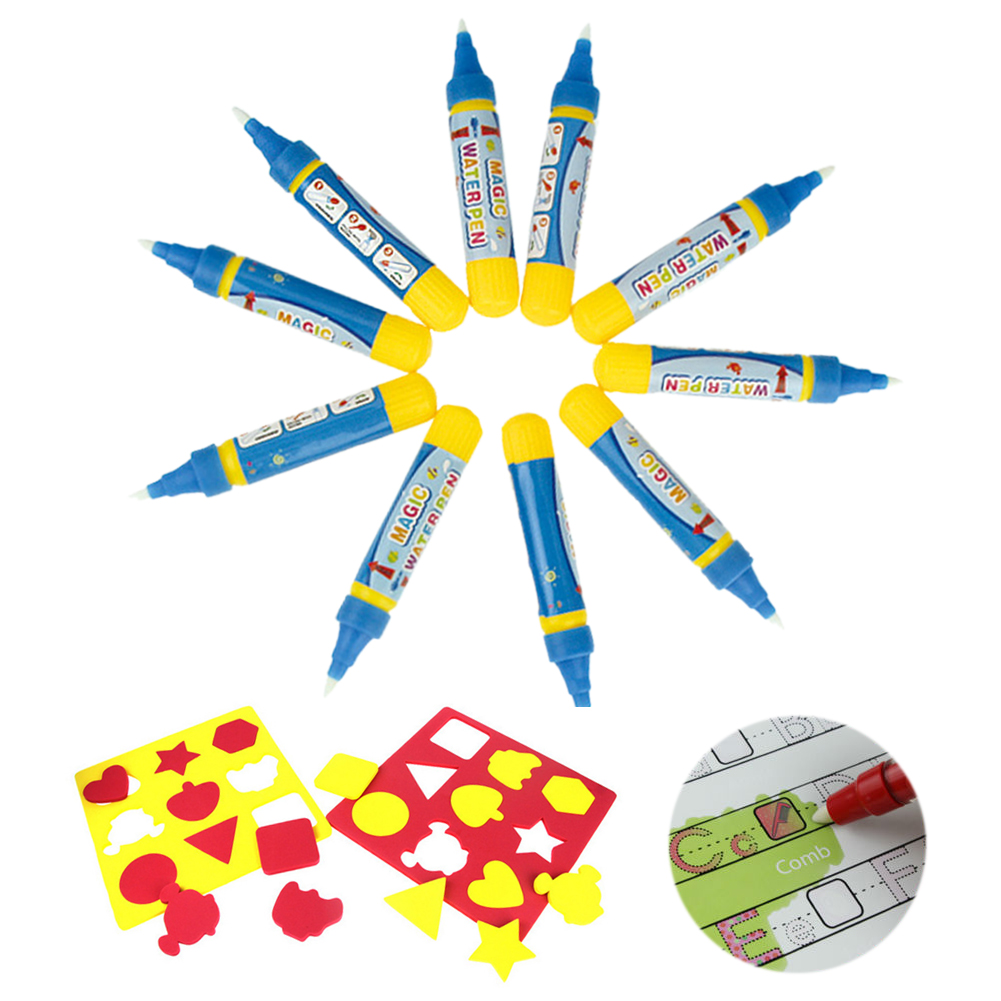 5/10x Drawing Water Pen Painting Magic Doodle Aquadoodle For Kids Mat Board Toy