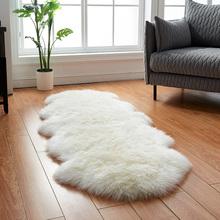 AOZUN натуральный уютный ковер из овечьей кожи, натуральный овечий мех, ковер для домашнего декора, эко меховой коврик для дивана, покрывало, коврик для двери