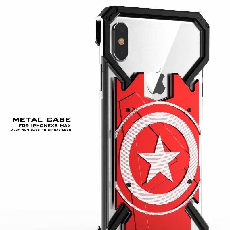 New Aluminum Metal Bumper Shockproof Case For iPhone XR XS Max Protective Cover Case For iPhone