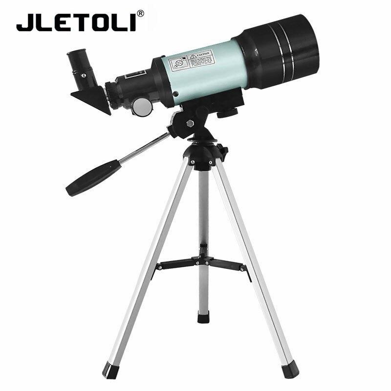 JLETOLI 150X Nível Iniciante Telescópio Astronômico Monocular de Visão Noturna Telescópio Com Tripé Profissional