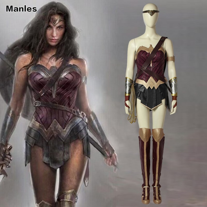 Wonder Disguise Woman Costume Fantasy Batman v Superman Adult Dawn of Justice Diana Prince Miracle Woman League Fancy Halloween