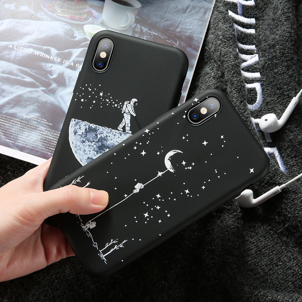 KISSCASE Stars Pattern Phone Case For Huawei mate 20 lite Mate 10 Lite Pro Cases For Huawei P10 P20 Nova 3 Coque Space Animal in Fitted Cases from Cellphones Telecommunications