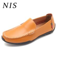 NIS Casual Shoes Men Leather Fashion Sneakers Boat Shoes Men Loafers Spring Summer Male Driving Flats Big Size 39-44 Footwears
