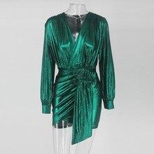 Slaygirl Wrap Bandage Bodycon Dress Women Sexy Party Dresses Elegant Deep V Neck Mini Autumn Spring Dress 2019 Vestidos