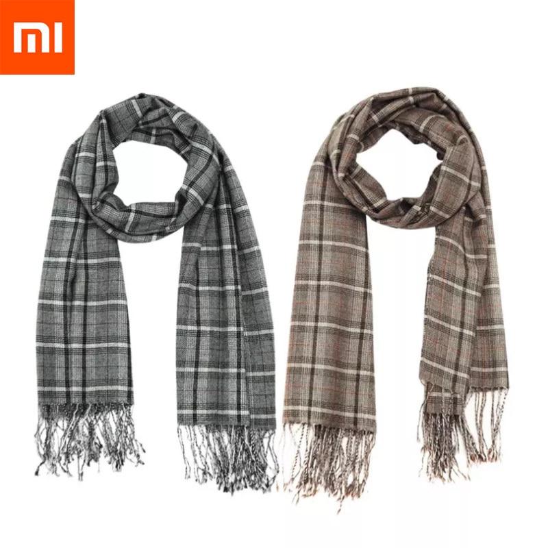 Xiaomi Mijia Me foulard en cachemire de soie deux couleurs en option Plaid classique Texture douce et respectueuse de la peau Style britannique