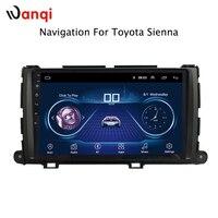 9 дюймов Android 8,1 четырехъядерный полный сенсорный автомобильный навигатор и развлекательная система для Toyota Sienna 2014 2010 эксклюзивная панель