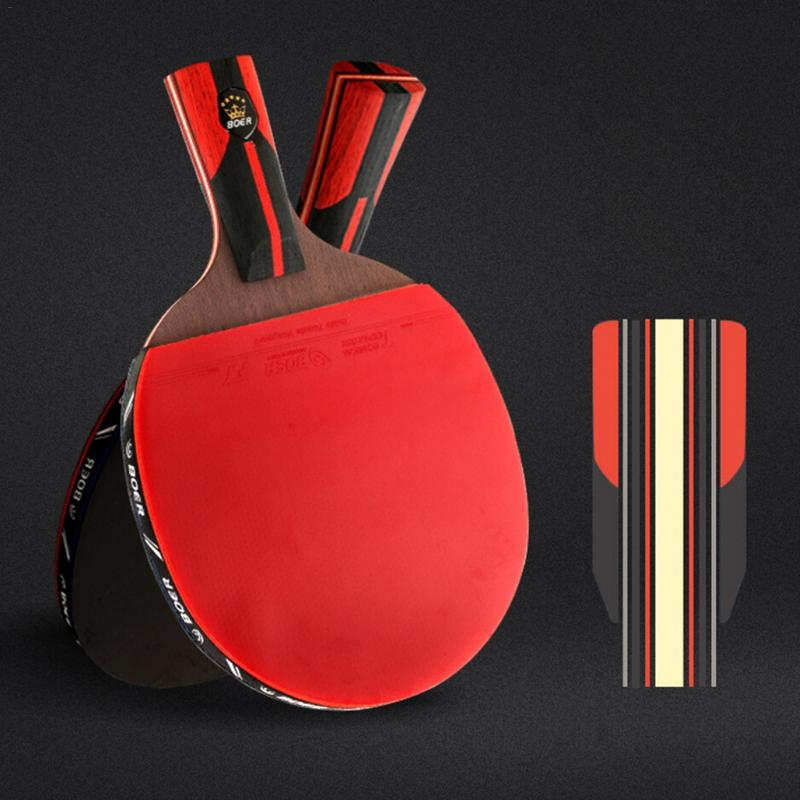 6 Star Table Tennis Racket Bat Professional Carbon Fiber Blade With Rubber Ping Pong Racket Paddle Table Tennis Racket