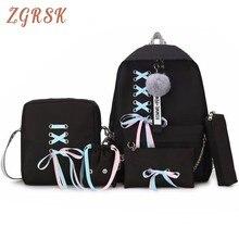 Fashion Women School Travel Backpack Bags High Quality Youth Cute Cnavas Bag Backpacks For Teenager Girls Students Bags Plecak недорого