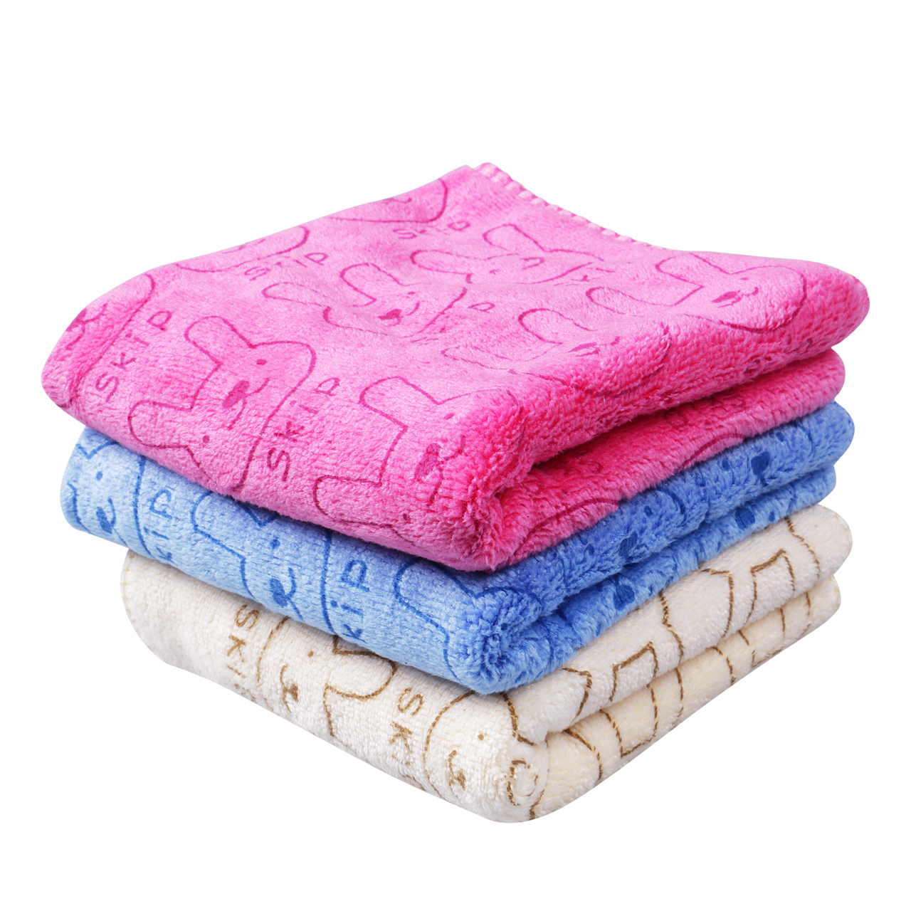 1pc Soft Solid Towel For Baby