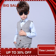 Kid Baby Boy Blazers Jacket Suit Formal Clothing Outerwear Party Wedding Casual Costume  3pcs /set fashion kids baby boy blazers suit formal black white clothing prom party wedding casual costume flower boy outfit the suits