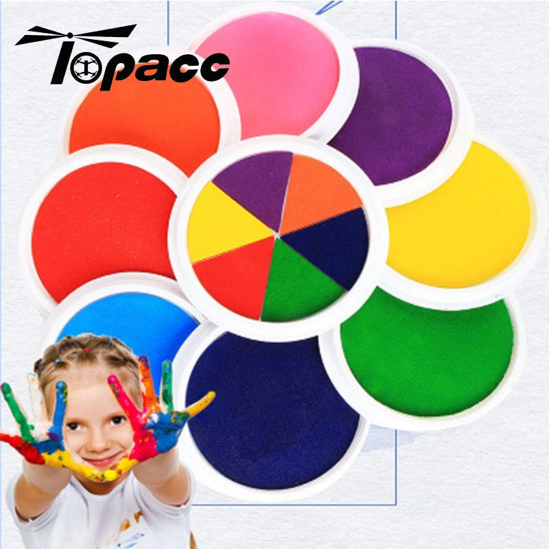 20 Color Funny Colorful Ink Pad Stamp DIY Finger Painting Craft Cardmaking Mud For Kids Learning Education Drawing Creative Toys