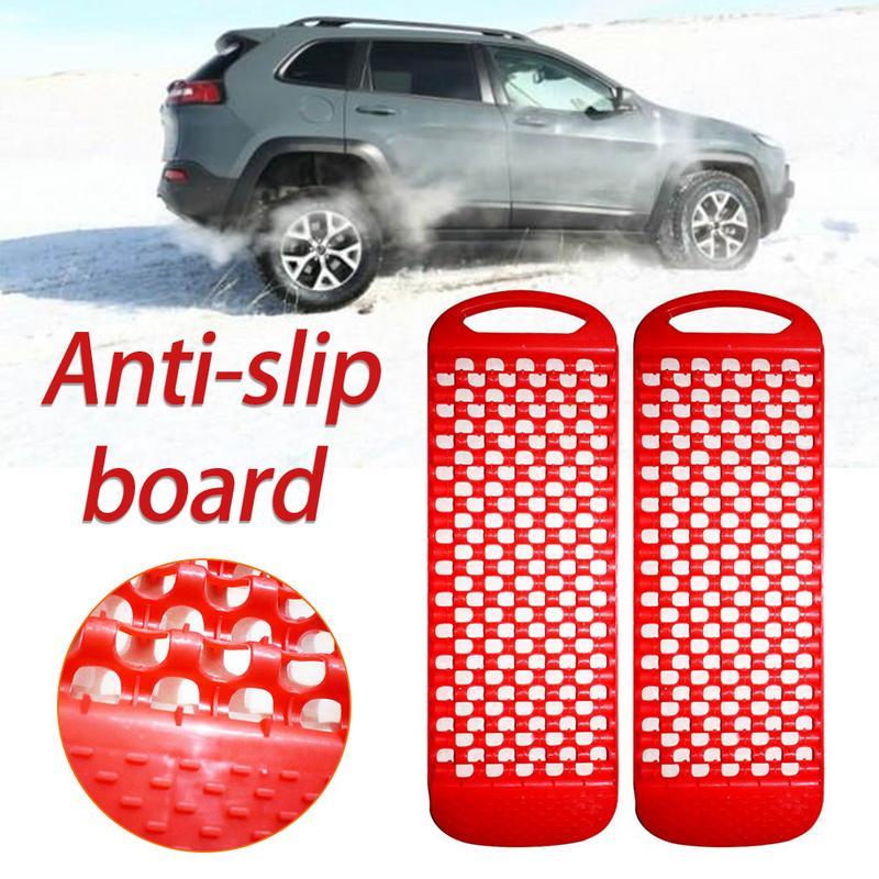 1 Pair Universal Car Wheel Tyre Snow Anti Skid Board Emergency Rescue Anti-skid Board Recovery Tracks Road Tyre Ladder Sand Mud