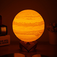 3d Printing Jupiter Planet Light Pat 3 Colors Night Lamp Rechargeable Night Lights For Bedroom Office Decoration