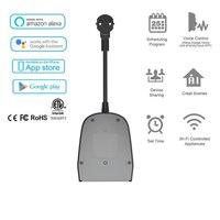 LEORY 10A Dual EU Plug Outdoor IP44 Waterproof Smart WIFI Socket Outlet Support Alexa Google Home IFTTT