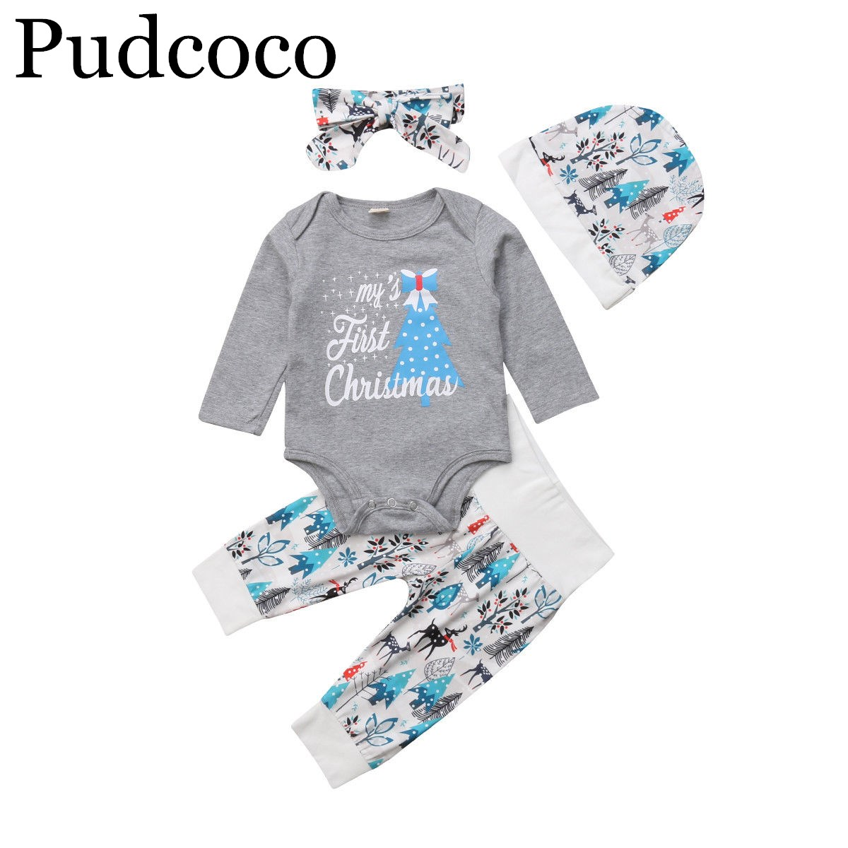Newborn Baby Boys Clothes Romper Jumpsuit T-shirt Hooded Tops Pants Outfits Set