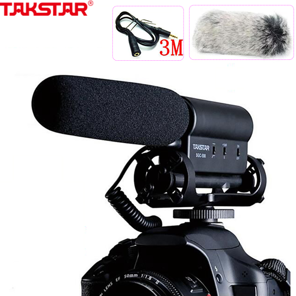 TAKSTAR SGC 598 Photography Interview on Camera FOR Canon NIkon sony Microphone Photography Interviews VideoMic Studio