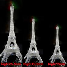 Мода Мини Эйфелева Башня Освещение Лампа Стол Спальня Ночной Свет Украшения Стол СВЕТОДИОДНЫЕ