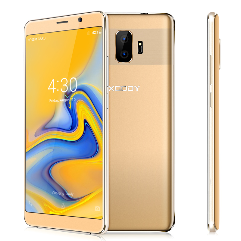 XGODY Y27 3G Dual Sim Smartphone Android 8.1 6 Inch 18:9 Full Screen Mobile Phone Quad Core 1GB+8GB 2500mAh WiFi 5MP Cellphone