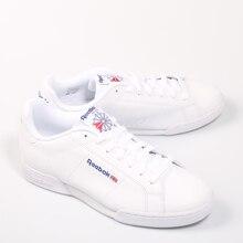 aaacc24d0 REEBOK NPC II Blanco Zapatilla Cuero Causal Hombre Piel Plano Ligera  Deportiva Tenis Moldeada Man Shoes