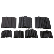 цена на 127pcs/set Assorted Heat Shrink Tube Black Wire Wrap Electrical Insulation Cable Sleeving 2-13mm