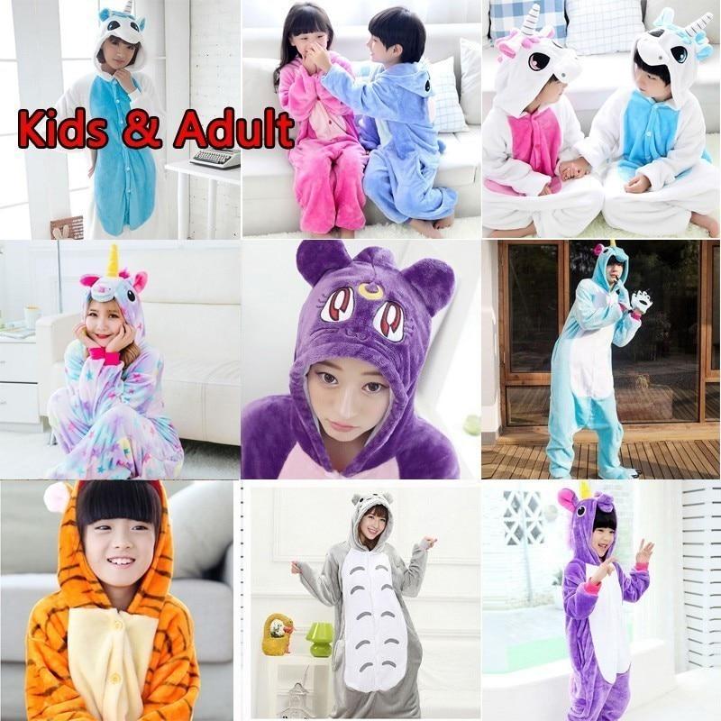 d34dfe40aa 2019 nuevo Animal pijamas de las mujeres de los hombres pijama de Cosplay  Onesie unicornio de