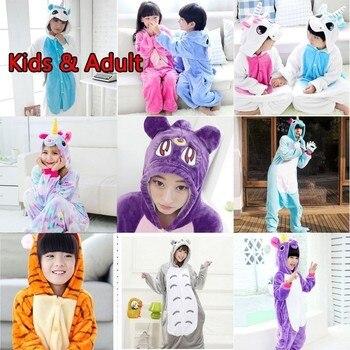 Kigurumi çocuk Fanila Unicorn pijama hayvanlı battaniye Uyuyanlar Pijama Kigurumi Tulum Tulum onesie Çocuk erkek Panda