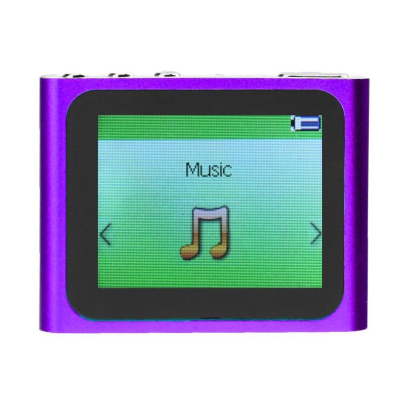 1.8 Inch TFT Big LCD Touch Screen Display MP3 MP4 Player 6th Generation Music Ebook Video Movie FM Radio MP4 Player with Clip