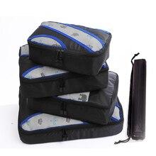 נסיעות תיק נשים שחור אריזה שקיות פוליאסטר אריזה קוביות אביב אריזה קוביית נסיעות שקיות נסיעה תיק Travelbag