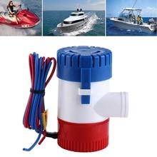 12V 3A 1100 GPH Электрический морской Трюмный насос погружной для яхты лодки пластиковый и металлический Трюмный водяной насос