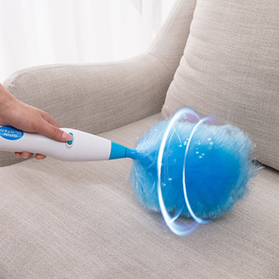 Dust Cleaner Electric Spin Duster Feather Duster Cleaning Household Straw Tube Vacuum Attachment Dust Cleaner Brush Dirt Remover-in Cleaning Brushes from Home & Garden