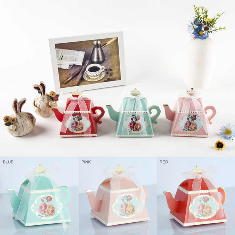 Gift Bags Wedding Favors Decor Afternoon Tea Cake Box Guests Bridal Cardboard Boxes Festive Supplies Vintage Creativity
