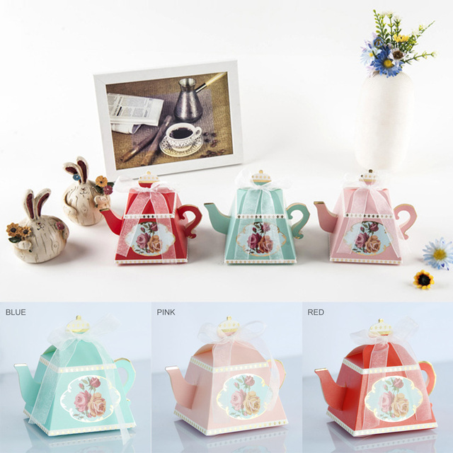 Gift Bags Wedding Favors Decor Afternoon Tea Cake Box Guests Bridal
