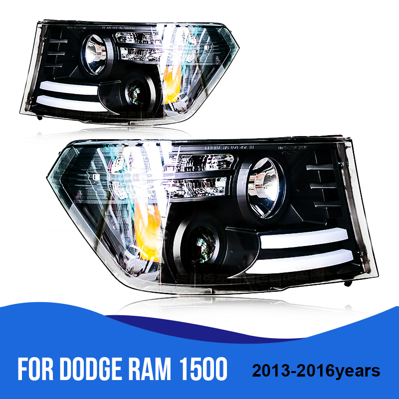 Roadot Car Styling Hid Led Headlights Daytime Running Light For Dodge Ram 1500 2017 2016 Headlamp Embly