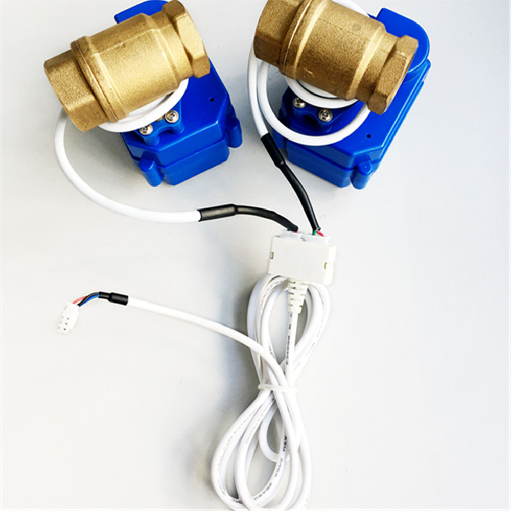 "Image 3 - HIDAKA Water Leaking Detector Alarm Sensor Cable Eu Plug 1/2"" *2pc BSP NPT Smart Home Auto Shut off valve for Russia Ukraine-in Sensor & Detector from Security & Protection"