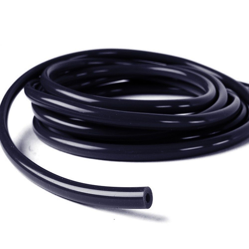 6mm ID Black 3 Metre Length Rubber Hose With Cotton Overbraid AutoSiliconeH.