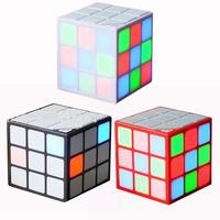 Creative Colorful Car Bluetooth Audio Cube Colorful LED Wireless Speaker Car Subwoofer Audio Radio Cubo Magical