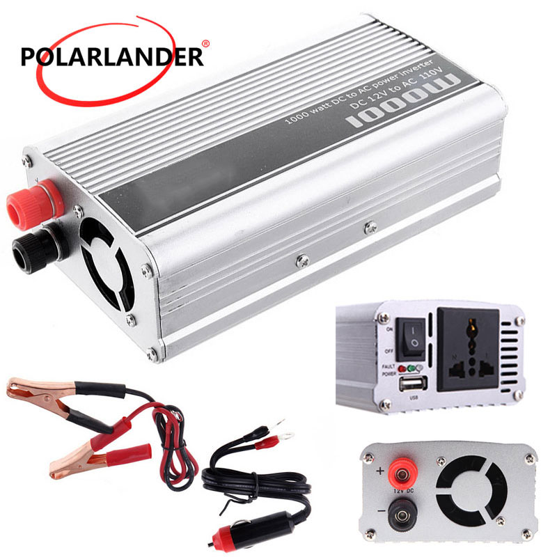 2018 newPower <font><b>Inverter</b></font> Sine Wave Car <font><b>inverter</b></font> <font><b>12V</b></font> to 220V/ <font><b>1000W</b></font> 24V to 110V/ sliver image