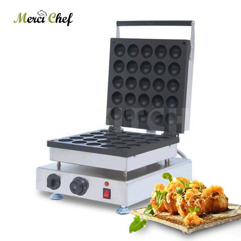 ITOP 25 Holes Tokoyaki Maker Cctopus Baking Machine Bomb Burning Machine Commercial Octopus Takoyaki Maker Tool in Waffle Makers from Home Appliances