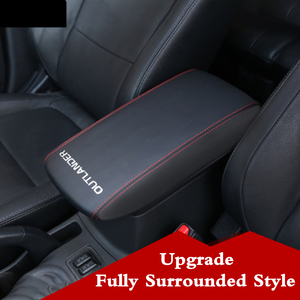 mitsubishi outlander 2013 2016 2015 2014 armrest box cover case cushion storage mat leather protection pad Arm Rest Top cover(China)