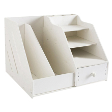 Многофункциональная настольная коробка-органайзер для канцелярских принадлежностей с подставкой для документов и держателем для ручек стеллаж для ящика для блокнота