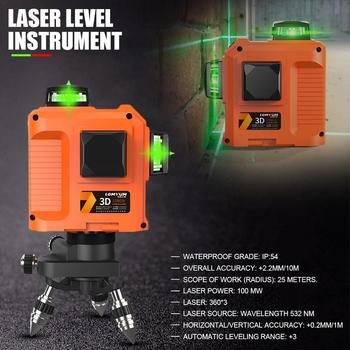 3D Green Light Level Instrument High Precision Infrared Ray Laser Level 8-Line 12-Line Level Instrument