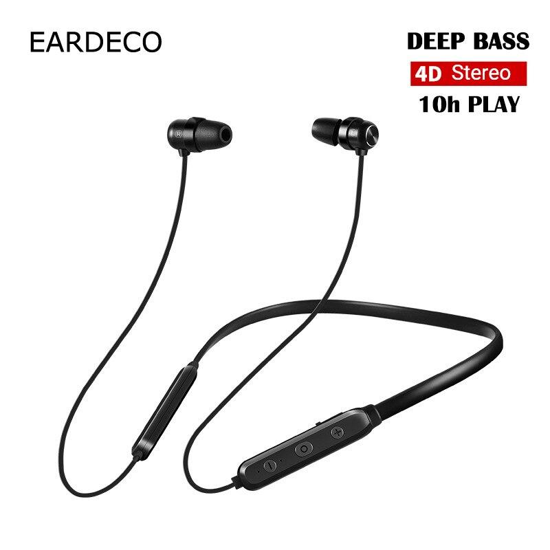EARDECO 4D Estéreo Sem Fio Bluetooth Fone de Ouvido Fone De Ouvido Fones De Ouvido Baixo Forte Ruído Fones De Ouvido Sem Fio Fones De Ouvido Fone de Ouvido com Microfone