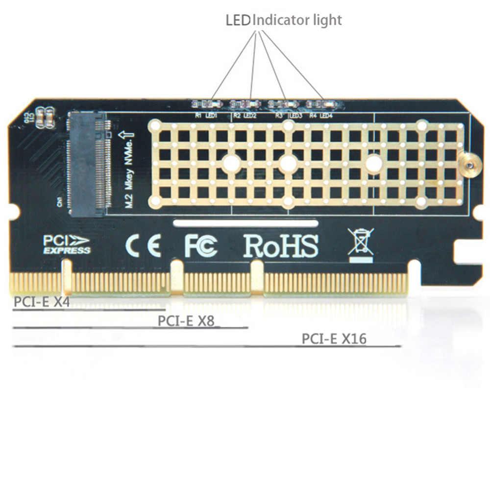 Đèn Led Card Mở Rộng Máy Tính Giao Diện M.2 NVMe SSD Sang PCIE 3.0X16