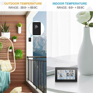 Image 5 - Baldr Wireless Weather Station Digital Touch Hygrometer Humidity Meter Temperature Sensor Thermometer Indoor Outdoor Wall Clock