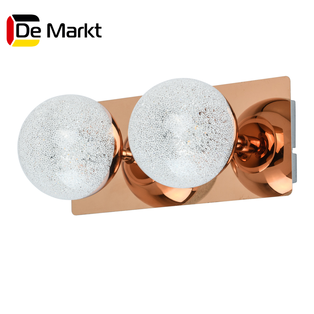 Wall Lamps De Markt 707020402 lamp Mounted On the Indoor Lighting Lights Chandelier [dbf] 10w 15w led crystal mirror wall lamp bathroom lights 90 260v stainless sconces indoor crystal lighting 44 54cm