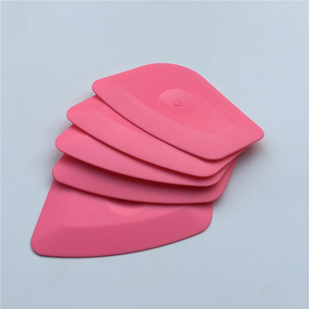 5pcs/Lot Foil Squeegee Vinyl Film Car Wrap Auto Home Office Car Film Sticker Install Cleaning Pink Scraper Window Tints Tool
