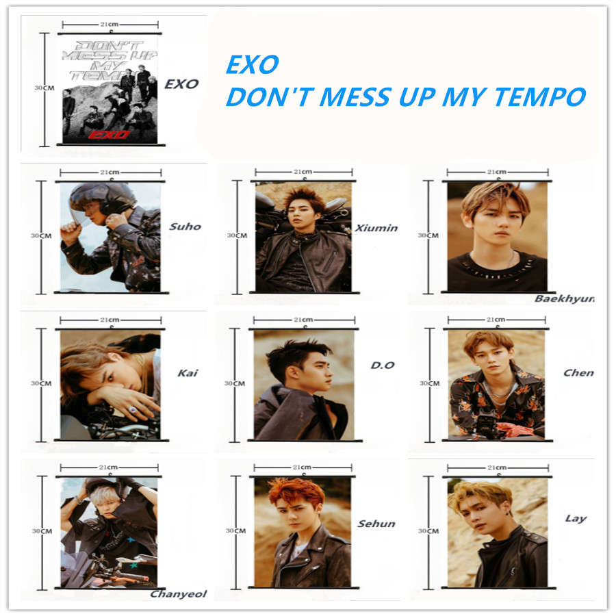 Detail Feedback Questions About Kpop Exo Members Mini Wall Scroll