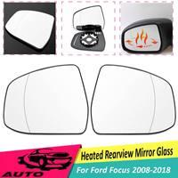 1 par porta da frente lateral asa aquecida espelho de aquecimento retrovisor substituição da lente de vidro para ford para foco 2008 2009 10 11-2018 rhd
