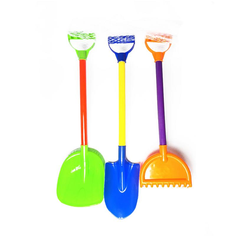 3 PCS Summer Kids Beach Play Sand Mini Plastic Shovels & Sandbox Beach Bag Game Toys Set For Children To Have Fun Factory